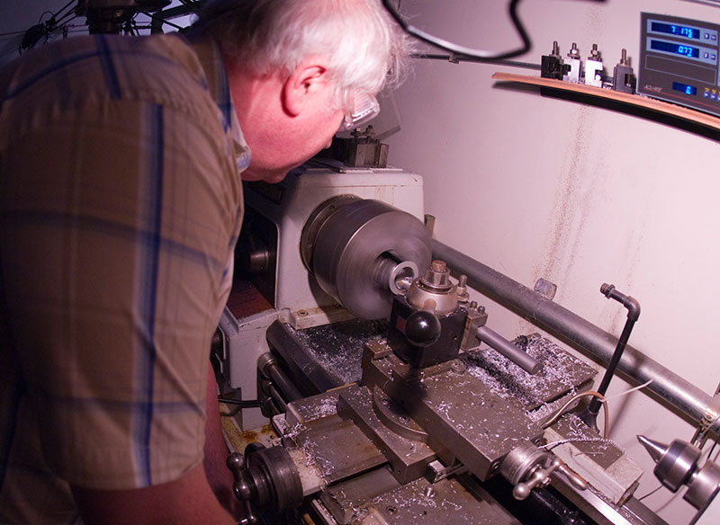 Dan Kyle running the Kyle Racing Lathe