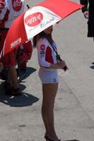 Umbrella girls at Laguna Seca